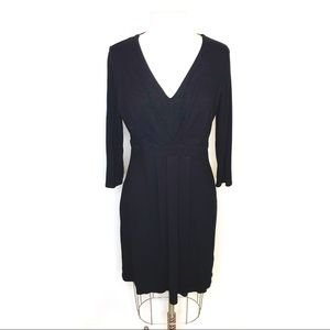 Boden pleated front black dress